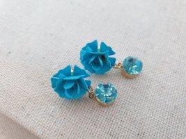 Blaue Rosen Ohrringe Ohrschmuck Schmuck