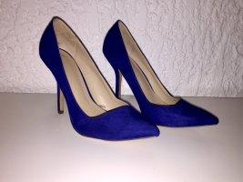 Blaue Spitze Pumps von Zara