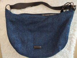 Blaue Vintage Marc O´Polo Tasche aus Bast