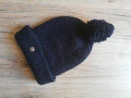 Opus Chapeau en tricot bleu-bleu foncé