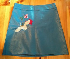 Bodyflirt Faux Leather Skirt cornflower blue viscose