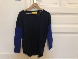 Lieblingsstück Kaszmirowy sweter niebieski-niebieski neonowy Wełna