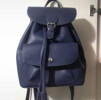 s.Oliver College Bag dark blue leather