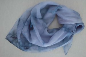 Silk Cloth steel blue-cornflower blue silk