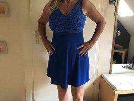 Robe péplum bleu