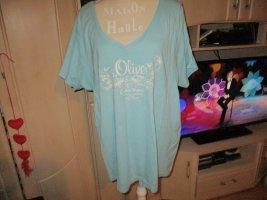 s.Oliver Camiseta azul claro Algodón