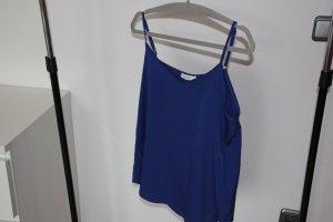 Batik Top met spaghettibandjes blauw