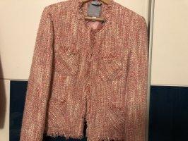 Amisu Blazer en maille tricotée blanc-or rose