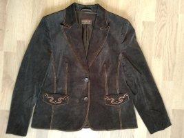 Basler Klassischer Blazer dark brown cotton