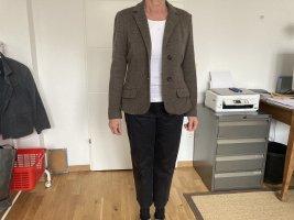 Max Mara Korte blazer bruin Gemengd weefsel