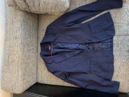 Fishbone Jersey blazer donkerblauw