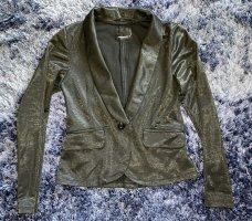 Fishbone Korte blazer zwart-zilver Polyester