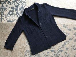 Anneclaire Knitted Blazer dark blue