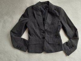 blazer H&M gr. xs 34 schwarz mit zarten streifen