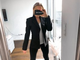 Miss H. Blazer sweat nero Poliestere