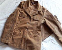 Blazer Jacke aus Samt Velour 38/40 in camelfarbe