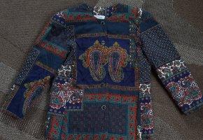 Blazer Jacke blau Paisley Muster Gr.38
