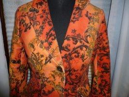 Veste de smoking orange fluo-noir