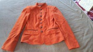 Blazer Schurwolle orange S 36 Madeleine