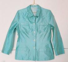 Aigner Short Blazer light blue-turquoise silk