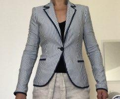 Zara Blazer en jersey blanc-bleu
