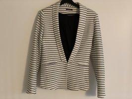 Promod Knitted Blazer white-dark blue