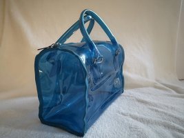 blitzblaue, transparente Handtasche