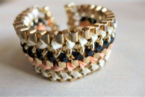 Blogger Boho Glieder Armband rose gold weiß schwarz neu