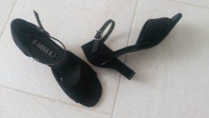 BLOGGER ! Riemchen Spangen Absatz Pumps Tanz Schuhe High Heels Sandaletten Sandalen -Gr. 36