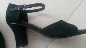 BLOGGER ! Riemchen Spangen Absatz Pumps Tanz Schuhe Sandaletten Sandalen -Gr. 36