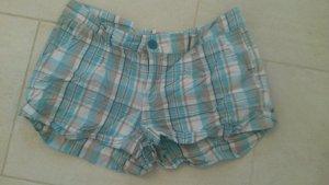 BLOGGER !! Shorts Hotpants Bermuda kurze Hose türkis weiß weiss   - NEU - Gr. 38 evtl. 40