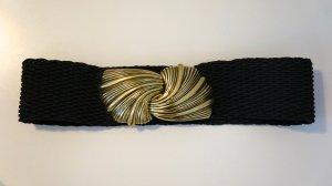 H&M Ceinture de taille noir-doré