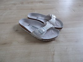 Birkenstock Sandalo con cinturino bianco-argento Pelle