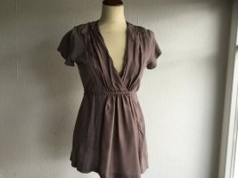 Bloom Tunique-blouse gris lilas soie