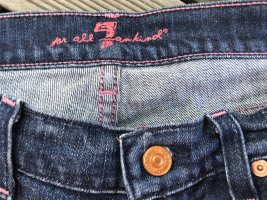 7 For All Mankind Jeans bootcut bleu-rose fluo