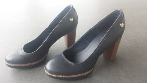 Blue Marine Pin Up Pumps Size 38