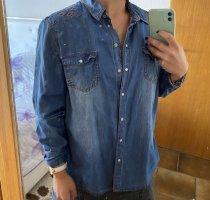 Blue Motion Chemise en jean bleu