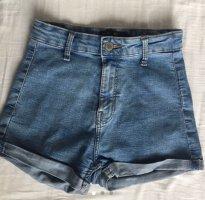 blue washed shorts