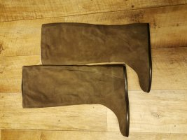 Slouch Boots beige suede