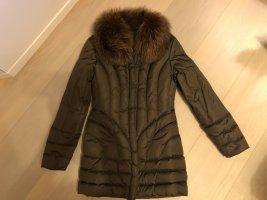 Blumarine Krótki płaszcz brązowy Poliester