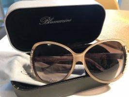 Blumarine Oval Sunglasses nude-purple