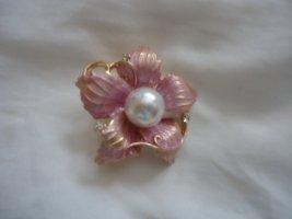 Blume rosaa Brosche