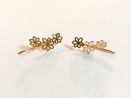 Blumen Ohrringe gold