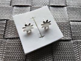 Blumen Ohrstecker aus Silber