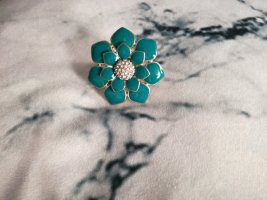 Blumen Statement Ring in petrol