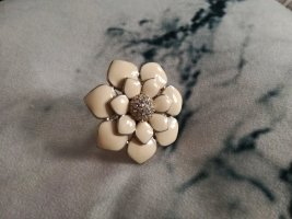 Blumen Statement Ring in weiß