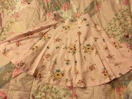 C&A Falda de patinador rosa claro