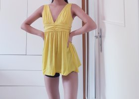 Zara Top peplo giallo