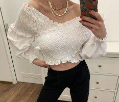 Zara Kopertowa bluzka biały