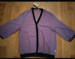 b.p.c. Bonprix Collection Camicetta a maniche corte blu-viola Poliestere